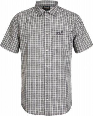 Рубашка с коротким рукавом мужская Jack Wolfskin El Dorado, размер 44. Цвет: серый