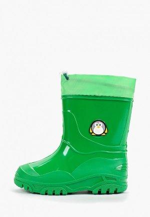 Резиновые сапоги Каури. Цвет: зеленый