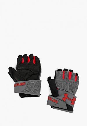 Перчатки для фитнеса Under Armour UA Clutchfit Resistor. Цвет: серый