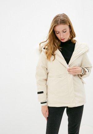 Куртка утепленная Elsi. Цвет: бежевый