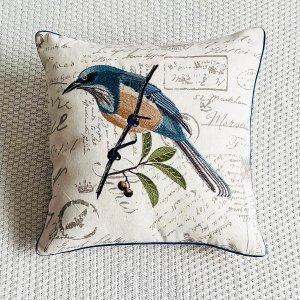 Чехол для подушки без наполнителя с вышивкой птицы SHEIN. Цвет: многоцветный