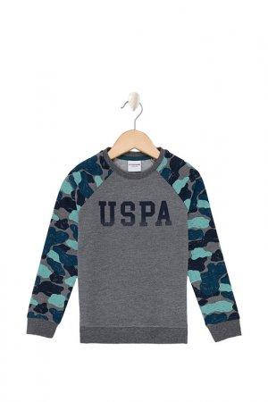Свитшот U.S. Polo Assn.. Цвет: vr081 серый, темно-синий