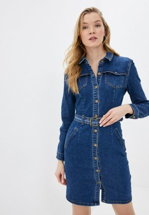 Платье джинсовое Befree. Цвет: синий