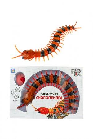 Игрушка Гигантская сколопендра 1toy. Цвет: оранжевый, черный