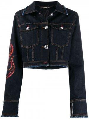 Джинсовая куртка Flam Philipp Plein. Цвет: синий