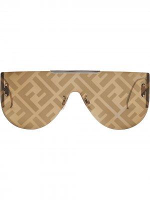Солнцезащитные очки Fabulous 2.0 Fendi. Цвет: коричневый