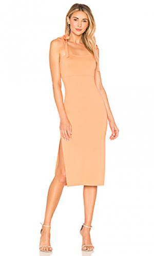 Платье миди athens Privacy Please. Цвет: оранжевый