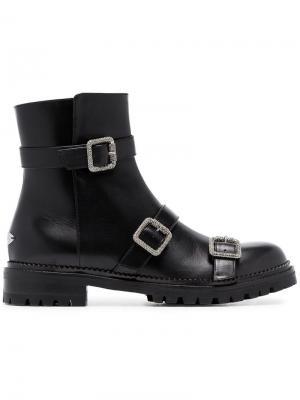 Ботинки с декором Jimmy Choo. Цвет: черный