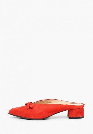 Мюли Argo. Цвет: красный
