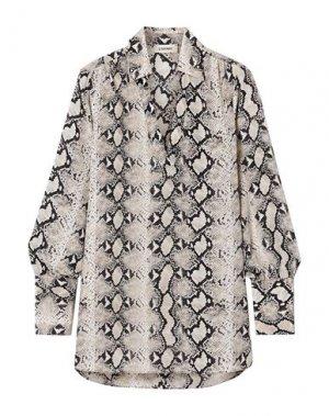 Pубашка L'AGENCE. Цвет: светло-серый