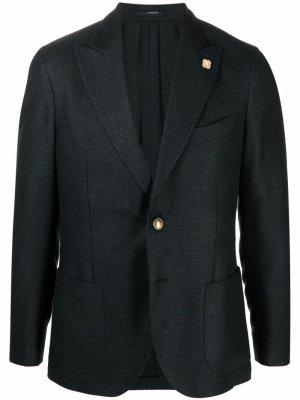Однобортный пиджак Lardini. Цвет: зеленый