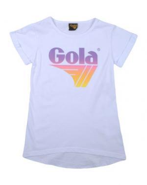 Футболка GOLA. Цвет: белый