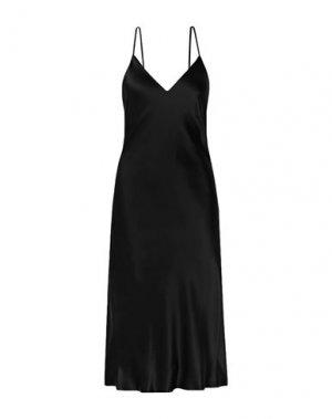 Платье длиной 3/4 L'AGENCE. Цвет: черный