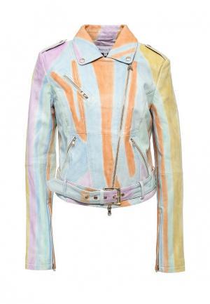 Куртка кожаная Patrizia Pepe PA748EWPTN13. Цвет: мультиколор