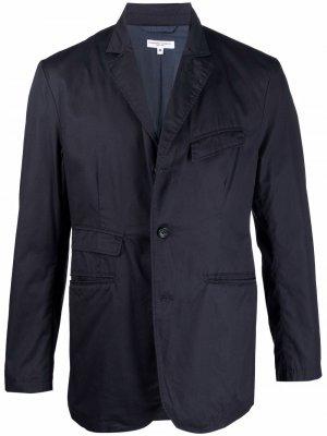Легкий пиджак с жатым эффектом Engineered Garments. Цвет: синий