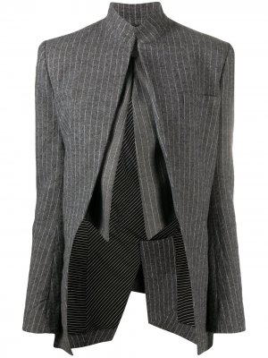 Pinstriped darted jacket Haider Ackermann. Цвет: серый
