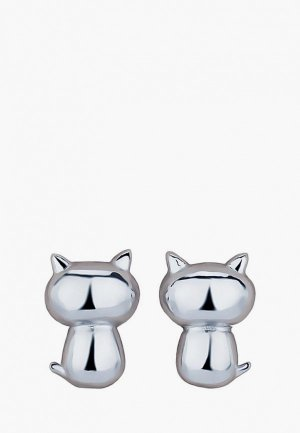 Серьги Ice&High Collection. Цвет: серебряный