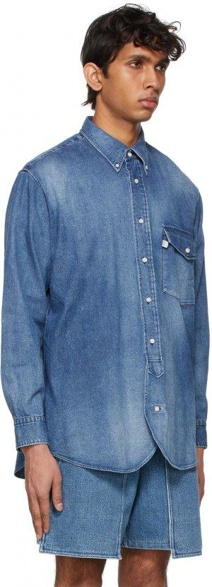 Blue J. Press Originals Edition Denim Irving Shirt Kuro. Цвет: indigo