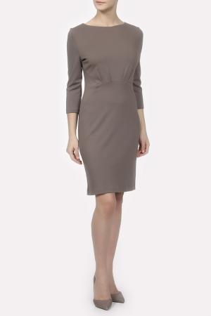 Платье Colletto Bianco. Цвет: бежевый