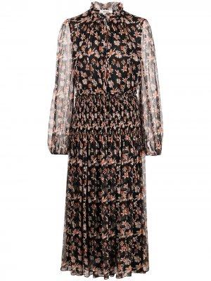 Платье миди с цветочным принтом Jason Wu. Цвет: синий