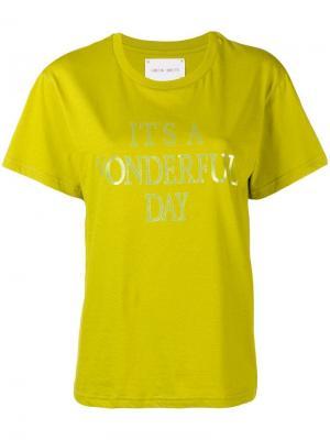 Its a Wonderful Day T-shirt Alberta Ferretti. Цвет: зеленый