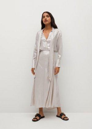 Сатиновая миди-юбка - Pisto-a Mango. Цвет: бежевый