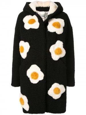 Пальто с цветочной вышивкой Tu es mon TRÉSOR. Цвет: черный