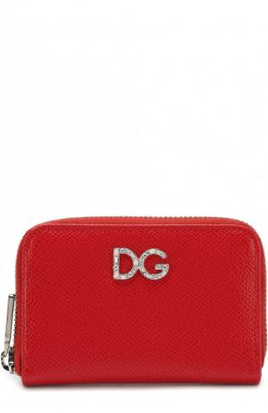 Кожаный кошелек на молнии с тиснением Dauphine Dolce & Gabbana. Цвет: красный