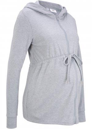 Куртка для беременных, трикотаж bonprix. Цвет: серый