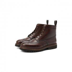 Кожаные ботинки O`Keeffe. Цвет: коричневый