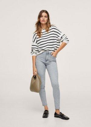 Джинсы-скинни с завышенной талией - Anne Mango. Цвет: джинсовый серый