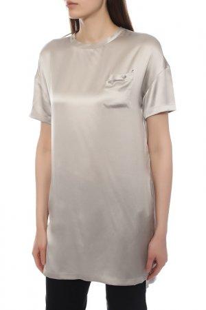 Блуза Brunello Cucinelli. Цвет: светло-серый