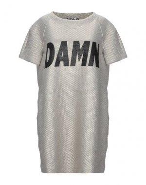 Короткое платье ANIYE BY. Цвет: серый