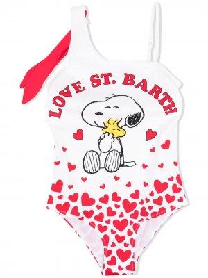 Купальник Fairy Snoopy Love MC2 Saint Barth Kids. Цвет: белый