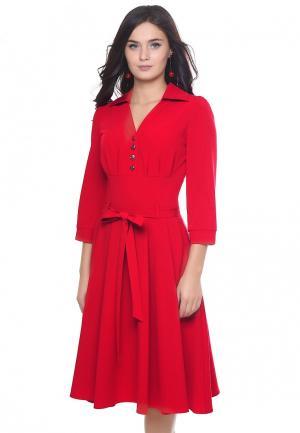 Платье Grey Cat VELES. Цвет: красный