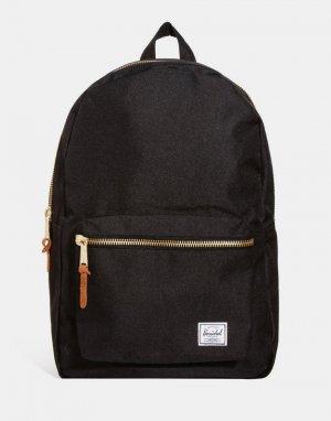 Черный рюкзак 23l Settlement-Черный цвет Herschel Supply Co