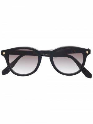 Солнцезащитные очки в круглой оправе Epos. Цвет: черный