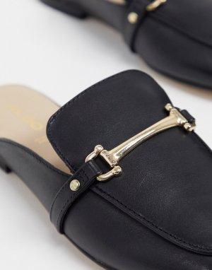 Черные кожаные строгие мюли-лоферы -Черный ALDO
