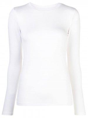 LAgence футболка Tess с длинными рукавами L'Agence. Цвет: белый
