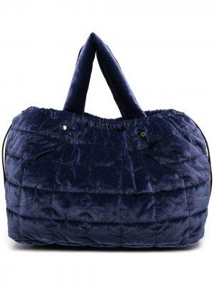 Большая стеганая сумка-тоут Aspesi. Цвет: синий