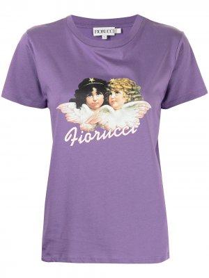 Футболка Vintage Angels с графичным принтом Fiorucci. Цвет: purple