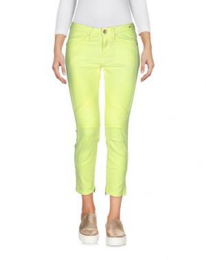 Джинсовые брюки-капри CLOSED. Цвет: кислотно-зеленый