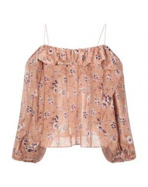 Блузка ULLA JOHNSON. Цвет: песочный