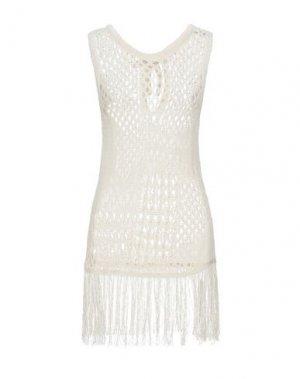 Короткое платье ALTUZARRA. Цвет: бежевый