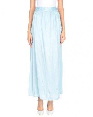 Длинная юбка FRACOMINA. Цвет: небесно-голубой