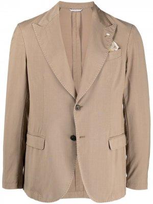 Однобортный пиджак Manuel Ritz. Цвет: нейтральные цвета