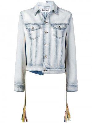 Джинсовая куртка асимметричного кроя Loewe