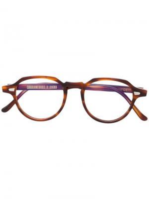 Очки в круглой оправе Cutler & Gross. Цвет: коричневый