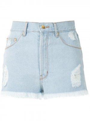 Джинсовые шорты-бойфренды Sandra Amapô. Цвет: синий