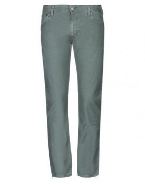 Повседневные брюки HTC. Цвет: зеленый